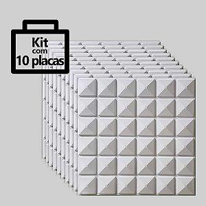 Kit com 10 unidades - Painel 3D Autoadesivo Inca