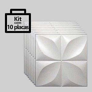 Kit com 10 unidades - Painel 3D Autoadesivo Pétalas