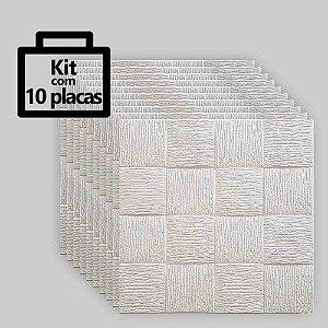 Kit com 10 unidade - Painel 3D Autoadesivo Quadratto