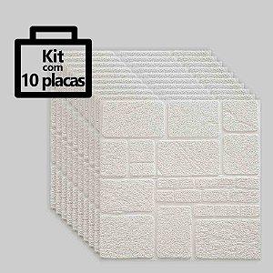 Kit com 10 unidades - Painel 3D Autoadesivo Pedra