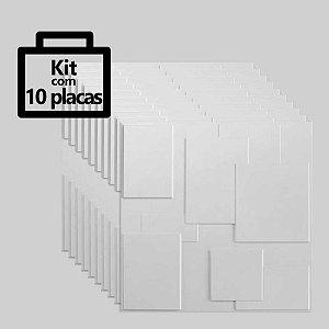 Kit com 10 unidades - Painel 3D Autoadesivo Plazza