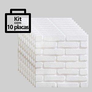 Kit com 10 unidades - Painel 3D Autoadesivo Tijolinho Poliestireno