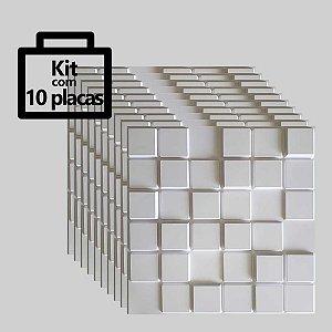 Kit com 10 unidades - Painel 3D Autoadesivo Pixel