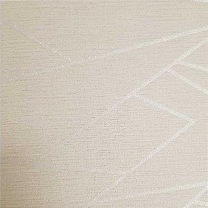 Papel de Parede Elegance 2 Geométricos Bege e Dourado EL201604R