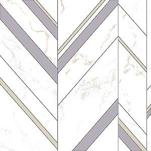 Papel de Parede Elegance 2 Geométricos Cinza EL201802R