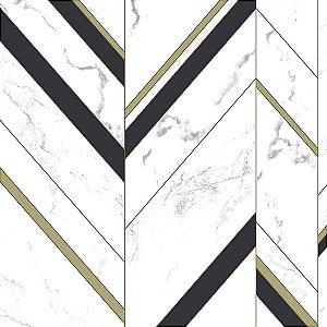 Papel de Parede Elegance 2 Geométricos Azul Marinho EL201804R