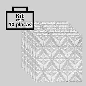Kit com 10 unidades - Painel 3D Autoadesivo África Branco
