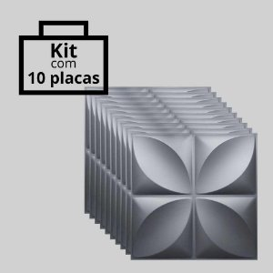 Kit com 10 unidades - Painel 3D Autoadesivo Pétalas Preto