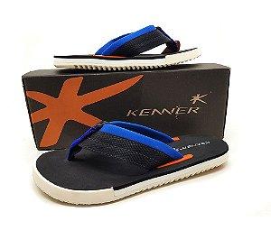 Sandália Kenner Kick S Line Masculina - Preto e Azul