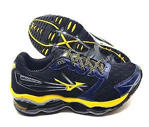 Tênis Masculino Mizuno Wave Prophecy 2 Pro2 - Preto e Amarelo - Promoção