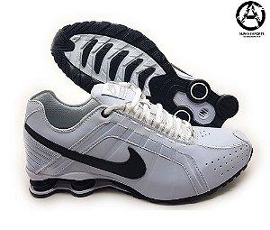 Tênis Nike Shox Junior Masculino Branco e Preto | Promoção