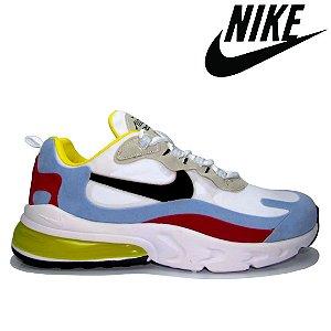 Tênis Nike Air 270 React Masculino Branco e Azul | Numerações do 38 ao 43