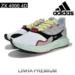 Tênis Adidas ZX 4000 4D Running Masculino - Branco | Lançamento