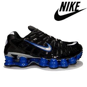 Tênis Nike Shox 12 Molas Reflective Masculino Preto Azul - Importado