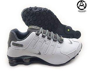 Tênis Nike Shox NZ Masculino Branco e Cinza - Oferta