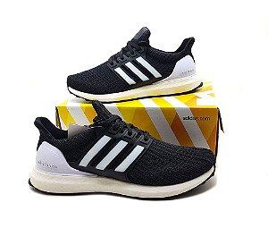 Tênis Adidas UltraBoost 4.0 Masculino Preto e Branco | Em Promoção