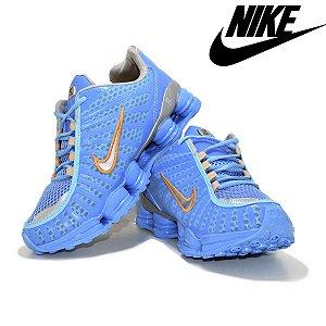 Tênis Nike Shox 12 Molas Masculino Neymar Azul | Promoção