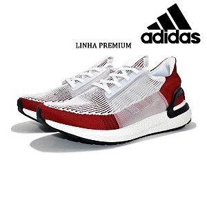 Tênis Adidas Ultraboost 19 Masculino Vermelho e Branco | Lançamento
