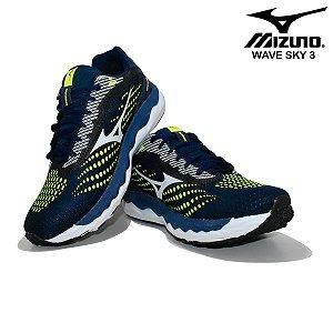 Tênis Mizuno Wave Sky 3 Masculino - Azul e Verde