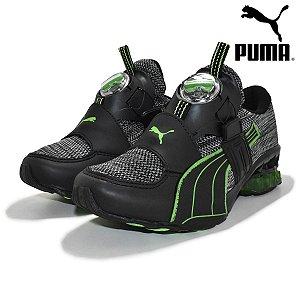 Tênis Masculino Puma Disc - Preto e Verde