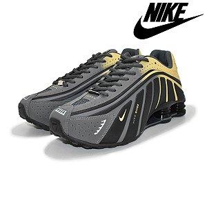 Tênis Nike Shox R4 Neymar Jr. Masculino Premium - Cinza