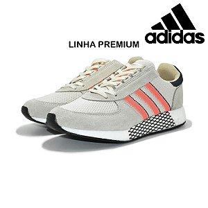 Tênis Adidas Marathon Tech Masculino - Cinza Claro e Laranja