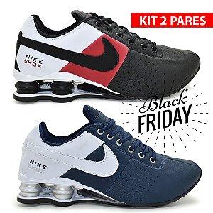 Combo 2 Pares Tênis Nike Shox Classic Deliver Masculino | Tricolor e Marinho