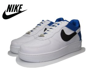 Tênis Nike Air Force NBA Edition Masculino - Branco e Azul