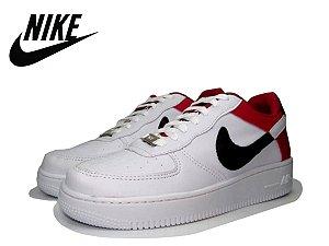 Tênis Nike Air Force NBA Edition Masculino - Branco e Vermelho