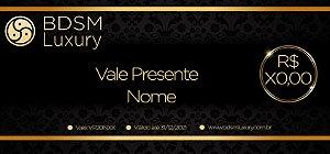 Cartão Vale Presente BDSM Luxury