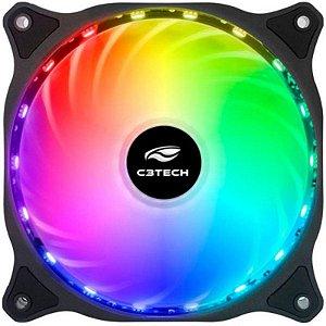 COOLER FAN PARA GABINETE 120MM F9-L150RGB LED RGB C3TECH BOX