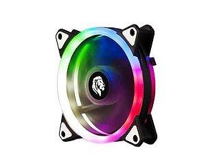 COOLER FAN PARA GABINETE FC1304 120MM COM LED 4 PINOS MOLEX HAYOM BOX