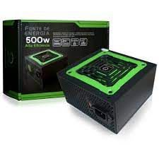 FONTE ATX 500W REAL 20/24 PINOS MP500W3-I 4* SATA 2* IDE ONEPOWER BOX