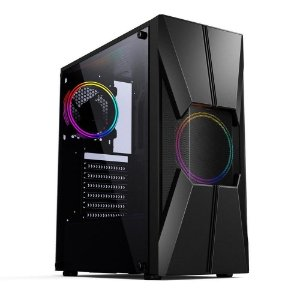 GABINETE GAMER CGG17B S/ FONTE LATERAL EM ACRILICO RGB PIXXO BOX
