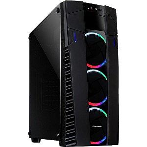 GABINETE GAMER MCA-FC-EC09A/RGB ECLIPSE C/ 3 FANS RGB LATERAL EM VIDRO TEMPERADO MYMAX BOX