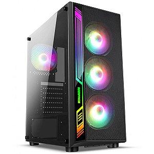 GABINETE GAMER MID-TOWER S/FONTE DEX RGB LATERAL EM VIDRO LIKETEC BOX