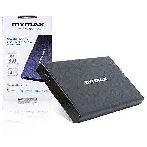GAVETA PARA HD 2,5 MENC-BS-U23T-BK NIMBLE USB 3.0 PRETO MYMAX BOX