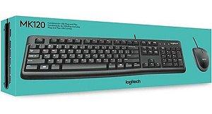 KIT TECLADO | MOUSE DESKTOP MK120 USB PRETO LOGITECH BOX