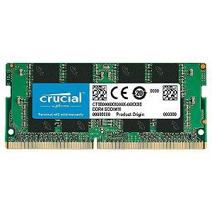 MEMORIA 8GB DDR4 2666MHZ NOTEBOOK CT8G4SFRA266 CRUCIAL BOX