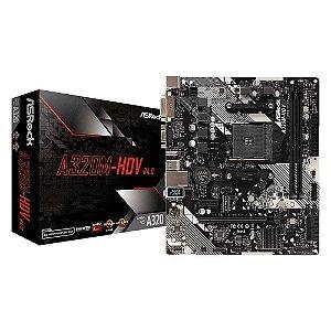 PLACA MAE AM4 MICRO ATX A320M-HD R4.0 DDR4 VGA/HDMI USB 3.0 ASROCK BOX