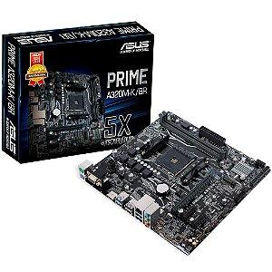 PLACA MAE AM4 MICRO ATX A320M-K/BR PRIME DDR4 VGA/HDMI USB 3.0 ASUS BOX