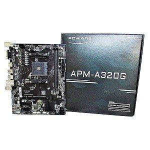 PLACA MAE AM4 MICRO ATX APM-A320G DDR4 VGA/HDMI USB 3.0 PCWARE BOX