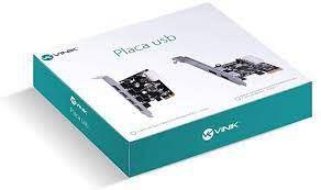 PLACA PCI-E USB 3.0 2 PORTAS P2U30-LP LOW PROFILE VINIK BOX
