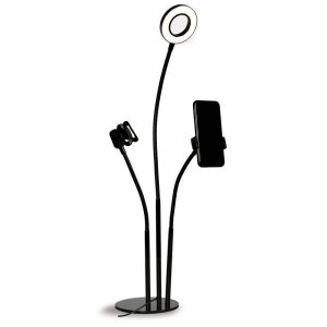 RING LIGHT USB SUPORTE DE MESA P/ SMARTPHONE C/ MIC MFVS-RLSM/BK MYMAX BOX