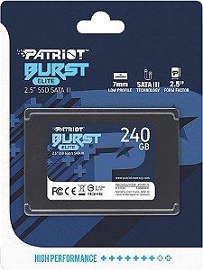 SSD 240GB SATA III BURST PBE240GS25SSDR PATRIOT BOX