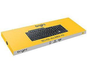 TECLADO USB MULTIMIDIA 0132 ABNT2 BRIGHT BOX