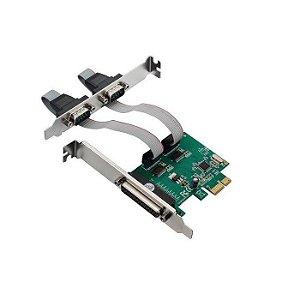 PLACA PCI-E C/ 2 SERIAL E 1 PARALELA KNUP BOX
