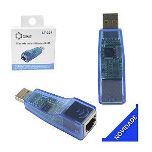 ADAPTADOR DE REDE USB P/ RJ45 LT-227 LOTUS BOX