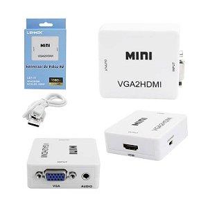 ADAPTADOR CONVERSOR HDMI P/ VGA LEY-77 LEHMOX BOX