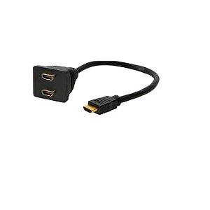 CABO HDMI 1 HDMI MACHO PARA 2 HDMI FEMEA GENERICO OEM